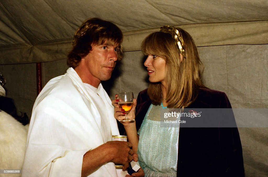 Racing Driver James Hunt Jane Birbeck at a London party July 1979