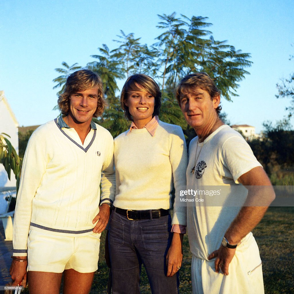 Racing Driver James Hunt & wife Suzy with Lew Hoad at Lew Hoad s