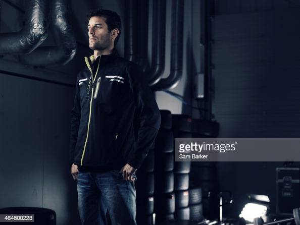 Racing driver Mark Webber is photographed for GP International magazine on January 1 2013 in London England