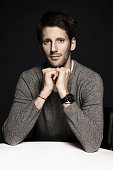 Racing driver Romain Grosjean is photographed for Self Assignment on December 4 2013 in Paris France