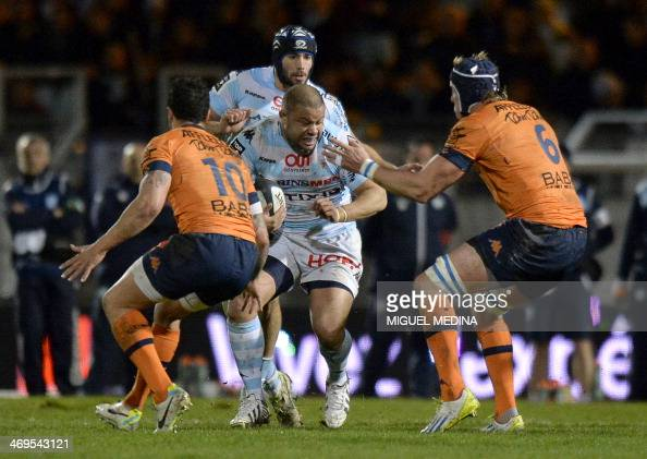 racing metro 39 s player luc ducalcon c vies with bayonne 39 s player stephen brett l and bayonne. Black Bedroom Furniture Sets. Home Design Ideas