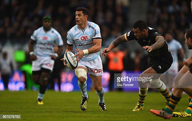 Racing player Dan Carter in action during the European Rugby Champions Cup match between Racing Metro 92 and Northampton Saints at Stade Yves Du...