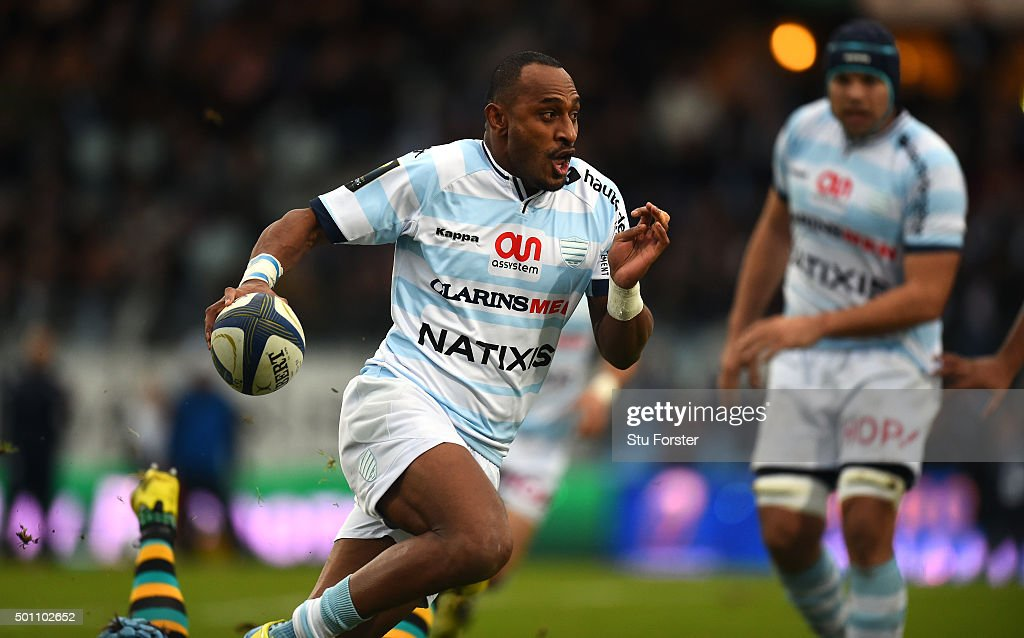 Racing player Joe Rokocoko in action during the European Rugby Champions Cup match between Racing Metro 92 and Northampton Saints at Stade Yves Du...