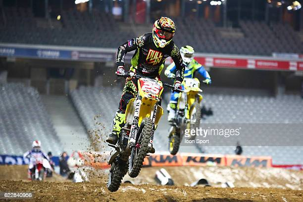 JPM Racing Suzuki's rider Florent RICHIER of France during the Supercross of Paris Lille on November 12 2016 in Lille France
