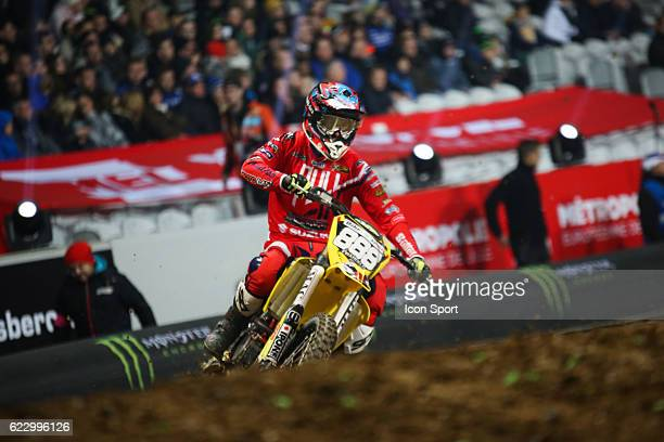 JPM Racing Suzuki's rider Nicolas BARCELO of France during the Supercross of Paris Lille on November 12 2016 in Lille France