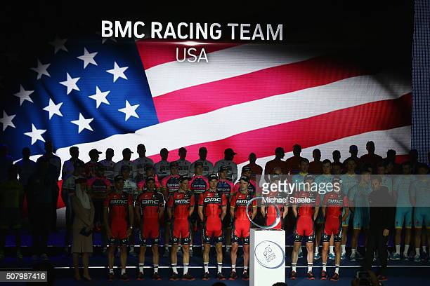 Racing Team during the team presentations at the Westin Hotel ahead of the Tour of Dubai at the Westin Hotel on February 2 2016 in Dubai United Arab...