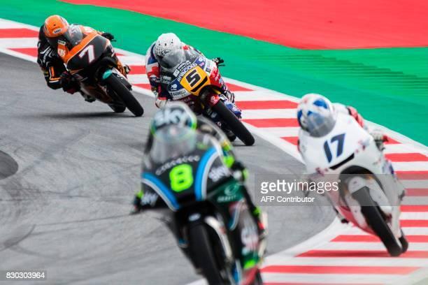 SIC Racing Team's Malaysian rider Adam Norrodin Marinelli Rivacold Snipers' Italian rider Romano Fenati SKY Racing Team VR46's Italian rider Nicolo...