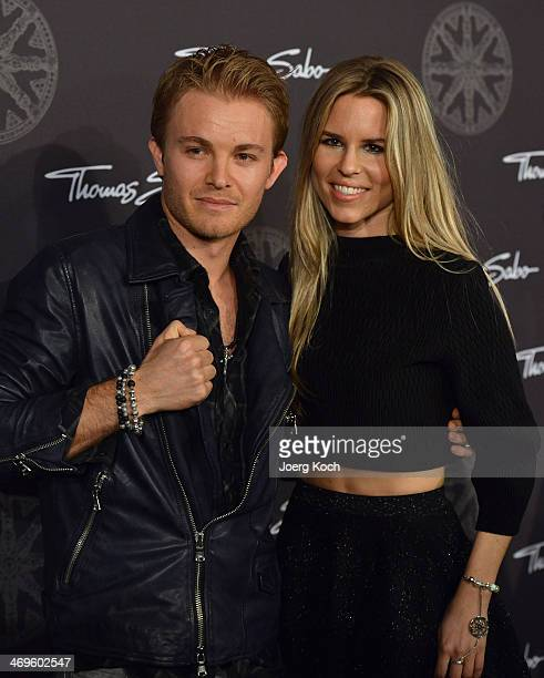 Racingcar driver Nico Rosberg and girlfriend Vivian Sibold attend the Thomas Sabo Karma Night at Postpalast on February 15 2014 in Munich Germany