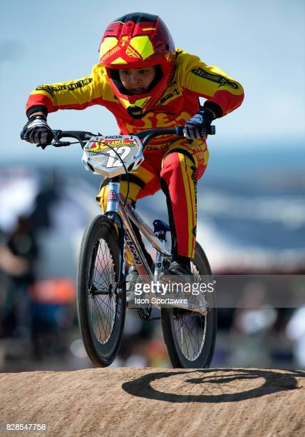 Racing's Cadel Petrocik competed in the 13 Expert class at the USA BMX Mile High Nationals on August 6 at Grand Valley BMX in Grand Junction CO