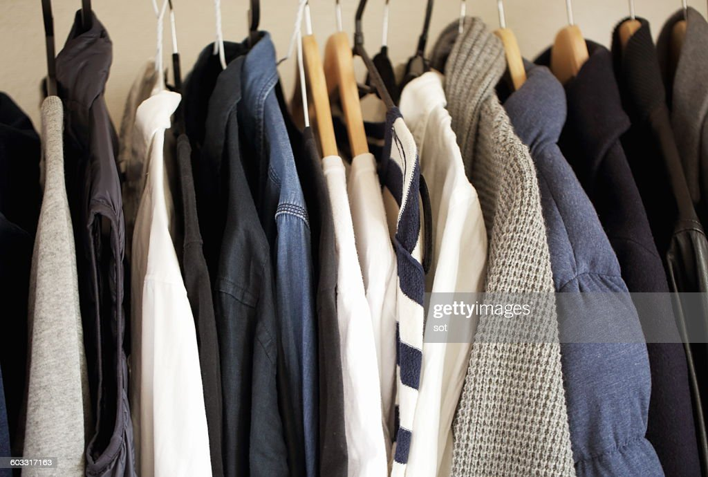 Rack of clothes,close up