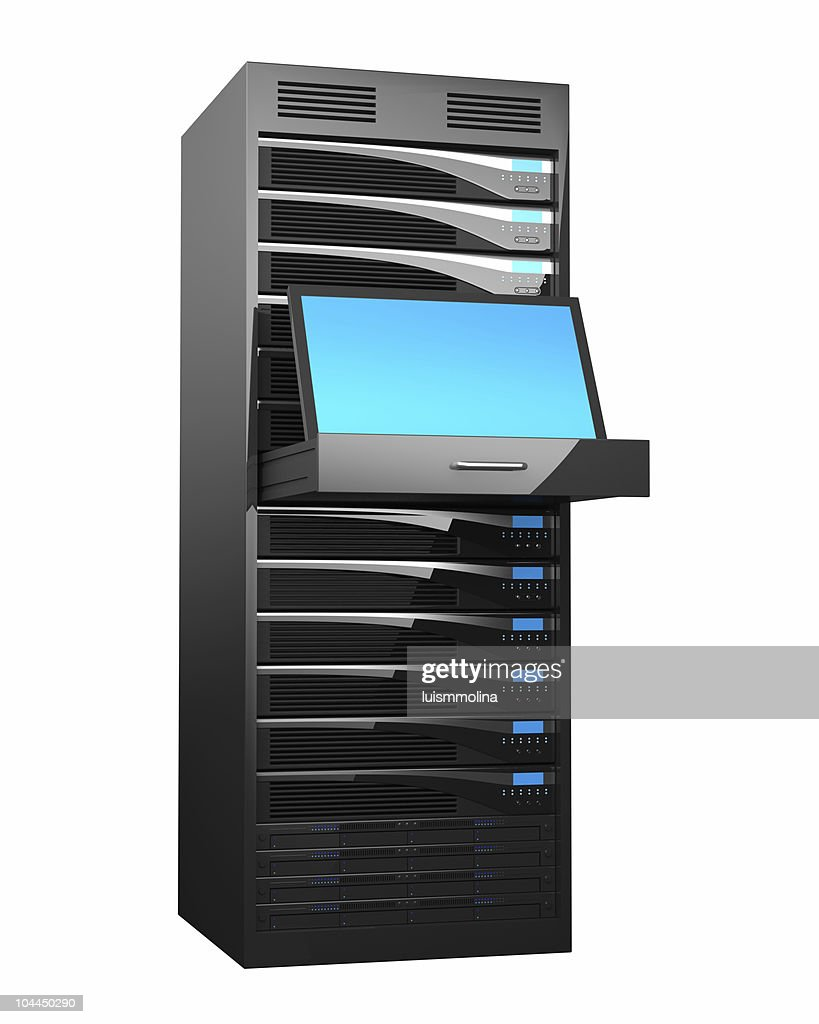 Rack of High Performance Servers : Stock Photo