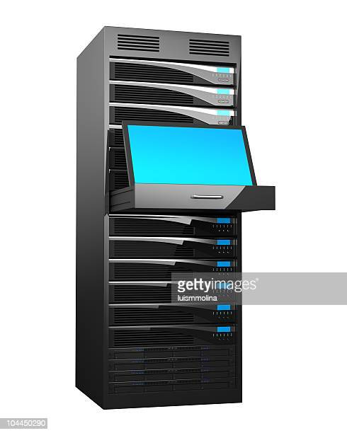 Rack of High Performance Servers