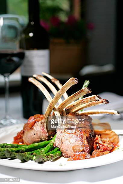 Rack of Lamb on a plate