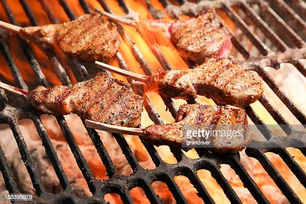 Rack of Lamb on Grill