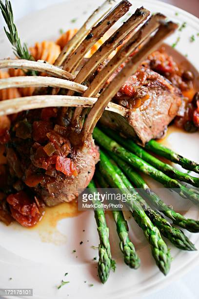 Rack of lamb tight from top