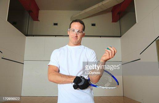 Racket-ball Ball Player Portrait