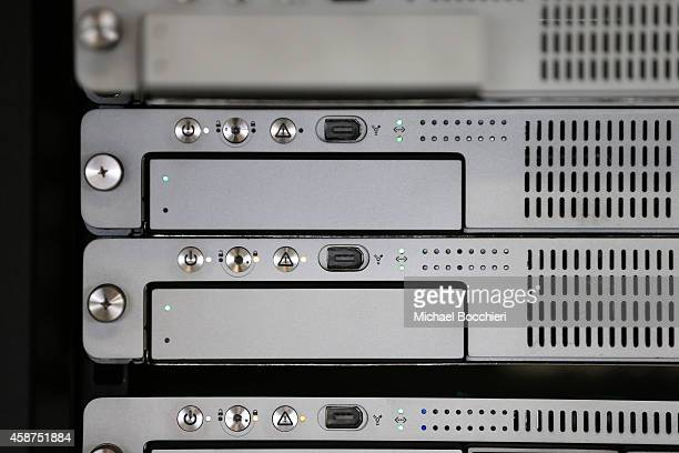 A rackmount server runs in a server room on November 10 2014 in New York City US President Barack Obama called on the Federal Communications...
