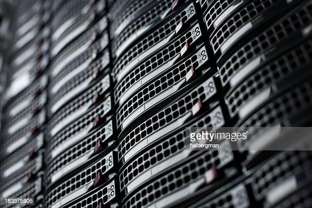 Rackmount Servern in einem Data Center