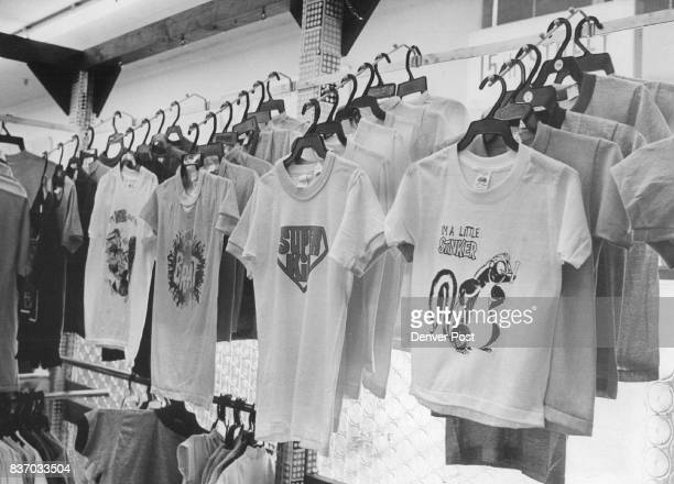 Racks And Racks Of TShirts Decorate Stores From Woolworth's to specially shops something for every taste Credit Denver Post