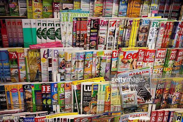 Racks of magazines