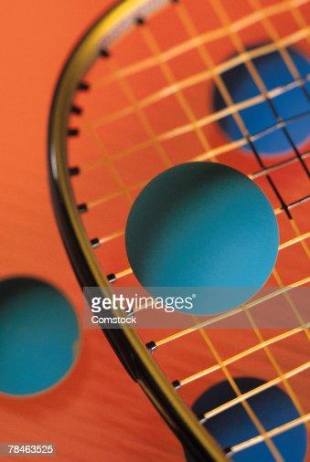 Racquetball and balls