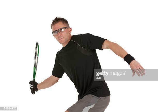 Racquetball player em ação