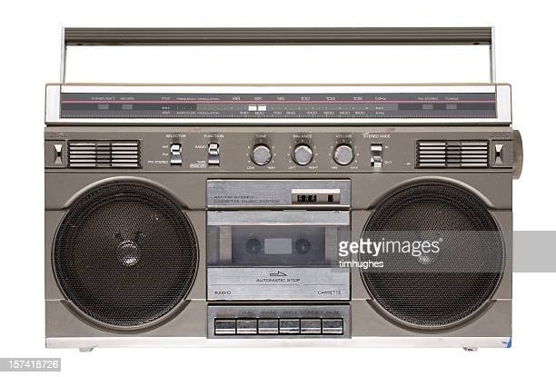 Rad '80s boombox (isolated on white)