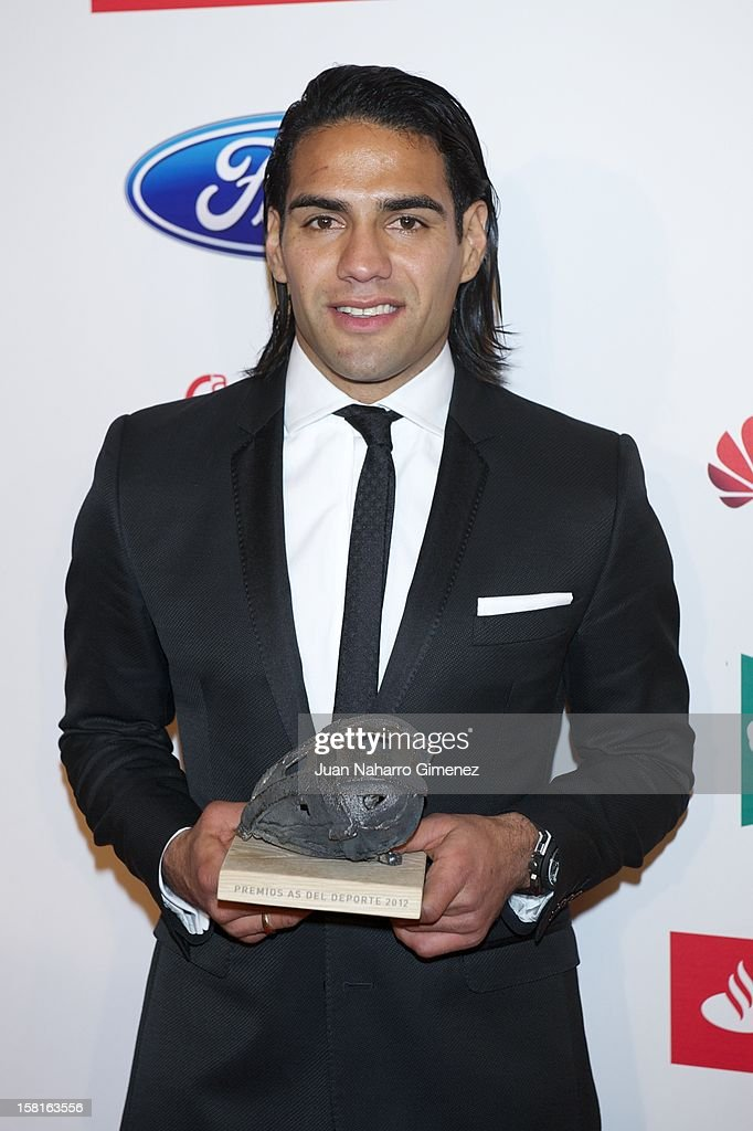 Radamel Falcao Garcia attends 'As del Deporte' awards 2012 at Palace Hotel on December 10, 2012 in Madrid, Spain.