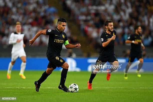 Radamel Falcao Garcia of AS Monaco in action during the UEFA Champions League match between Tottenham Hotspur FC and AS Monaco FC at Wembley Stadium...