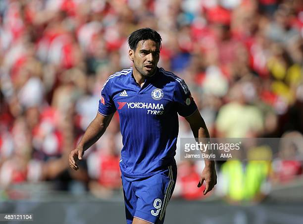 Radamel Falcao of Chelsea during the FA Community Shield match between Chelsea and Arsenal at Wembley Stadium on August 2 2015 in London England