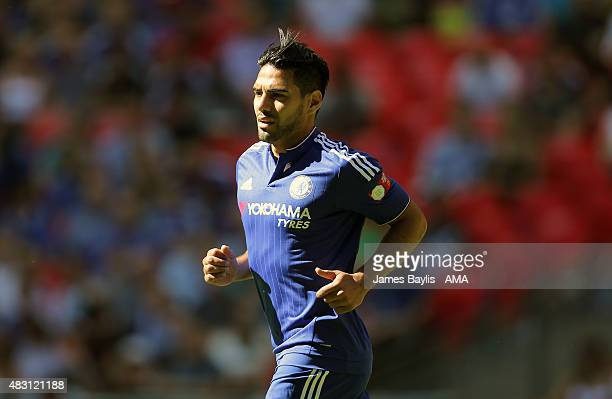 Radamel Falcao of Chelsea' during the FA Community Shield match between Chelsea and Arsenal at Wembley Stadium on August 2 2015 in London England