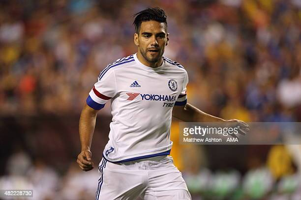 Radamel Falcao of Chelsea during the International Champions Cup match between Barcelona and Chelsea at FedExField on July 28 2015 in Landover...
