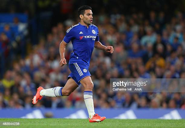 Radamel Falcao of Chelsea during the preseason friendly between Chelsea and Fiorentina at Stamford Bridge on August 5 2015 in London England