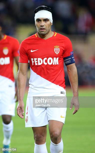Radamel Falcao of Monaco during the UEFA Champions League group G match between AS Monaco and FC Porto at Stade Louis II on September 26 2017 in...