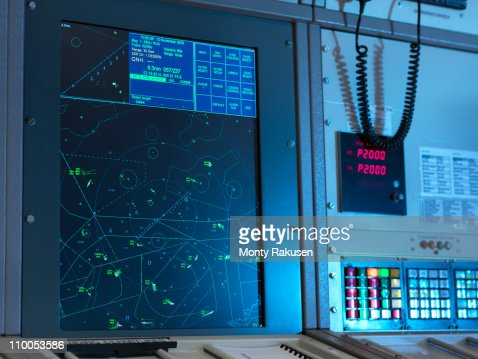 Radar desk in control room