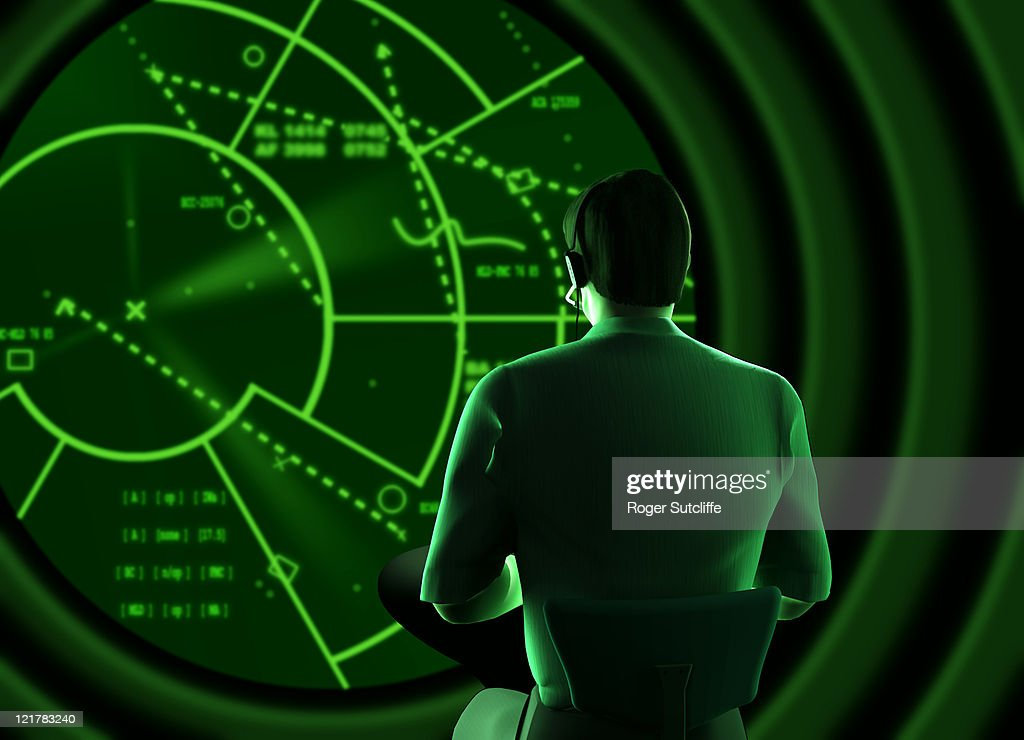 radar man, computer generated image : Stock Photo
