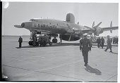 Radar Plane Arrives at Otis Falmouth Massachusetts The first of a group of thirty new Super Constellation radar patrol planes arrived at the Otis Air...