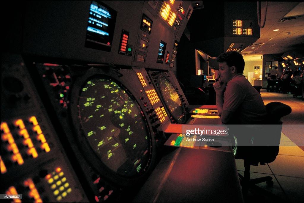 Radar Room at Air Traffic Control