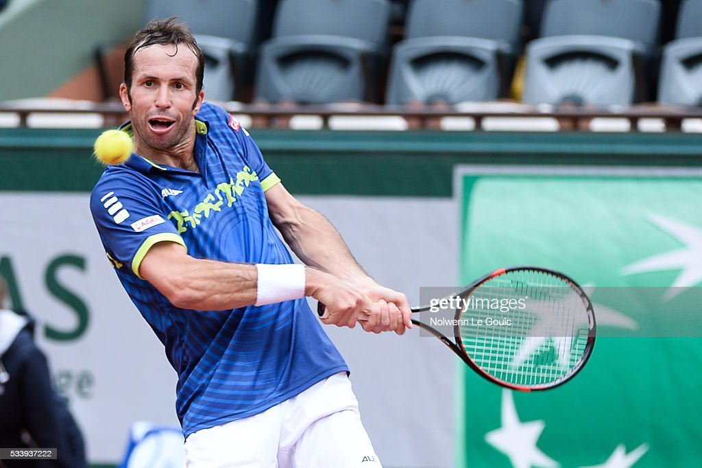 Radek Stepanek during the Men's Singles first round on day three of the French Open 2016 at Roland Garros on May 24, 2016 in Paris, France.
