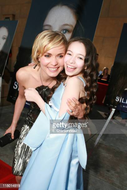 Radha Mitchell and Jodelle Ferland during World Premiere of TriStar Pictures' 'Silent Hill' at Egyptian Theatre in Hollywood California United States