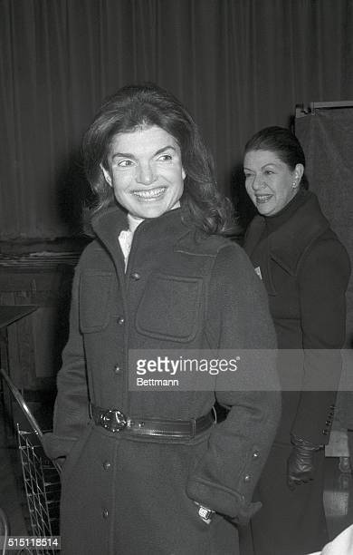 A radiant Jacqueline Onassis waits her turn to vote at a neighborhood polling place on Election Day November 7 1972
