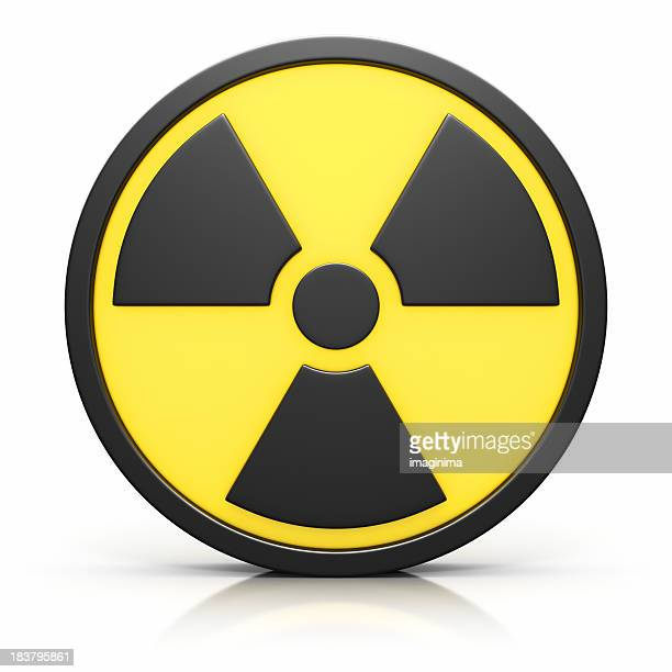 3D Radiation Sign