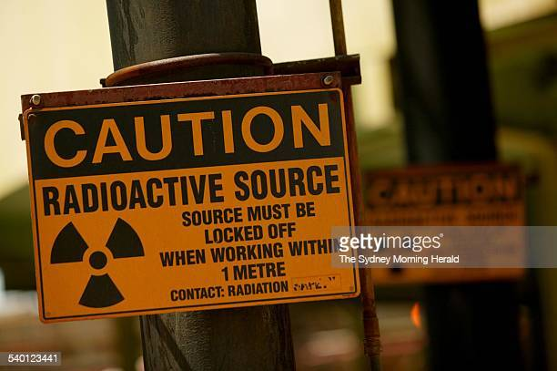 A radiation warning sign at ERA's Ranger uranium mine in Kakadu National Park in the Northern Territory 31 August 2006 SMH Picture by GLENN CAMPBELL