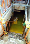 Radiationcontaminated water floods the basement of the No4 reactor at Tokyo Electric Power Co 's Fukushima Daiichi Nuclear Power Plant on January 29...