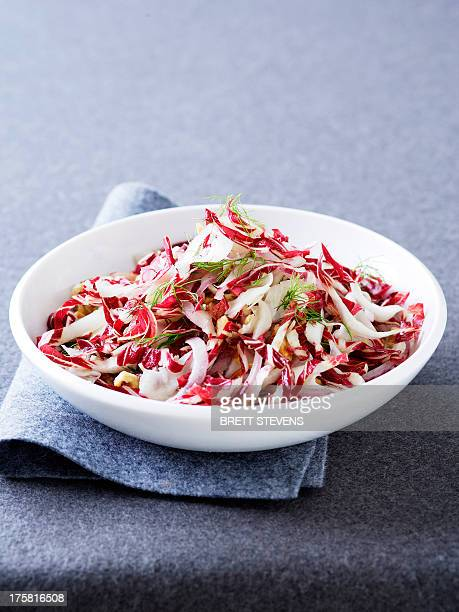Radicchio slaw with walnut oil