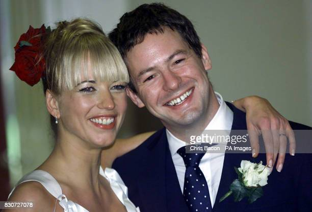 BBC Radio 1 Breakfast Show host Sara Cox went to the rainwhipped hills of Co Wicklow Ireland to have her marriage to DJ sweetheart Jon Carter blessed...