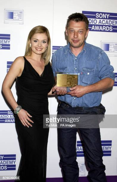 BBC Radio 3's Andy Kershaw receives the Specialist Music Award for Festival In The Desert from Katherine Jenkins during the Sony Radio Academy Awards...