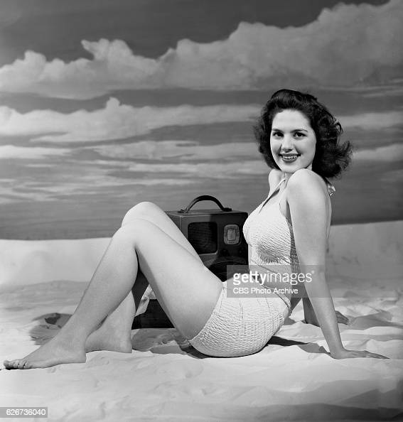 Radio actress Toni Gilman models a bathing suit She portrays Virginia Craig in the CBS Radio soap opera 'Life Begins' Image dated April 19 1940 New...