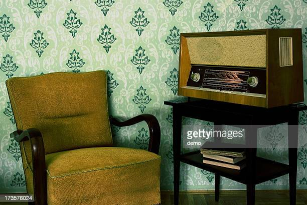 Radio and armchair