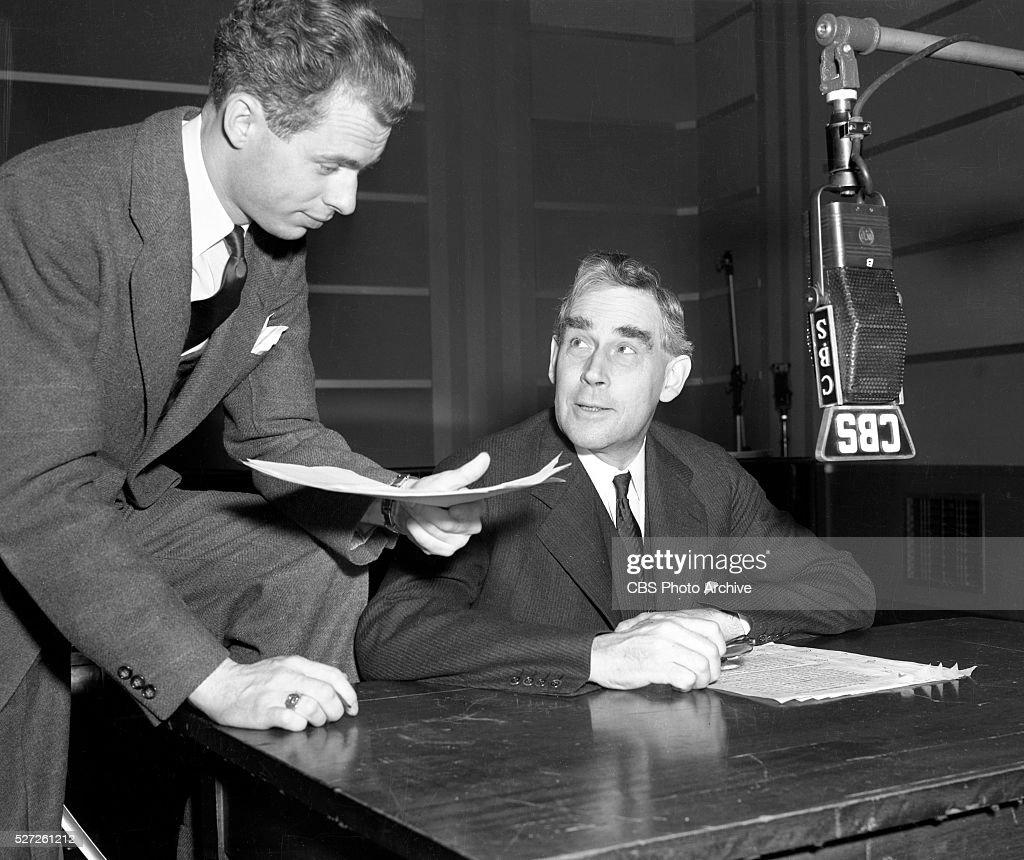 CBS Radio announcer Don Forbes, left, and Harvey N. Davis ...